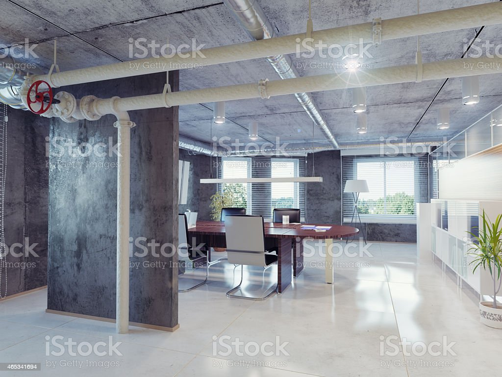loft office stock photo