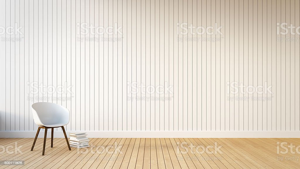 Loft & Simple Living room stock photo