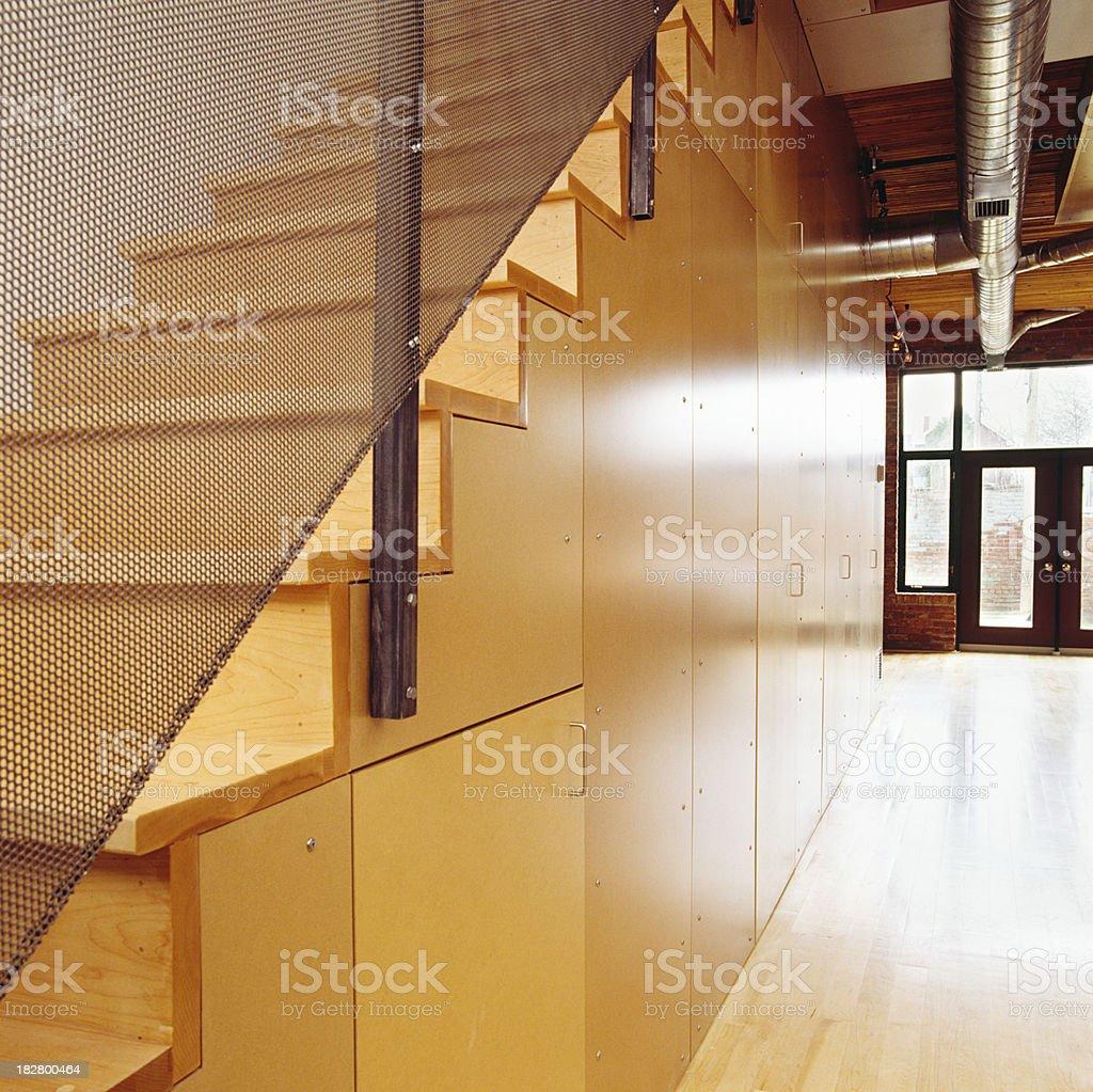 Loft staircase stock photo