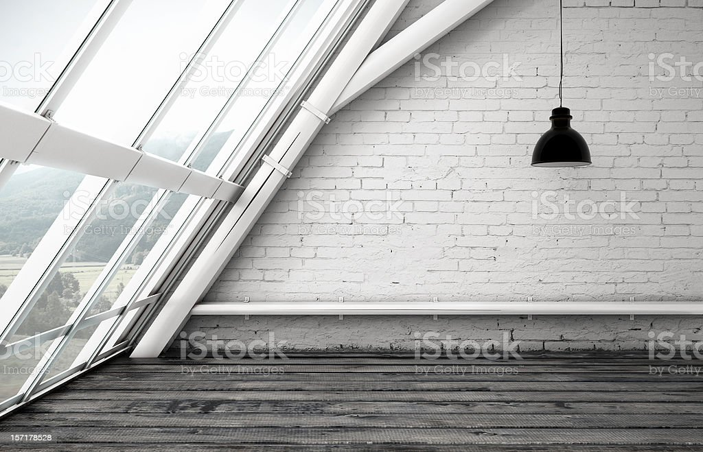 loft window stock photo