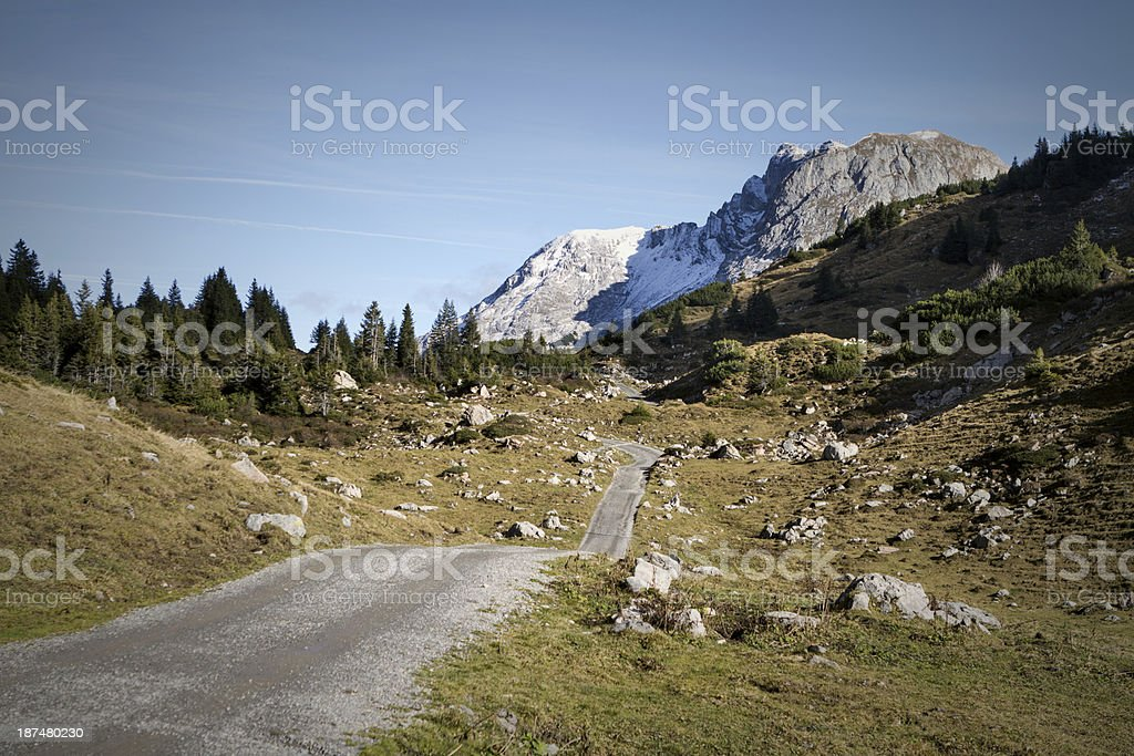 lofty mountain road royalty-free stock photo