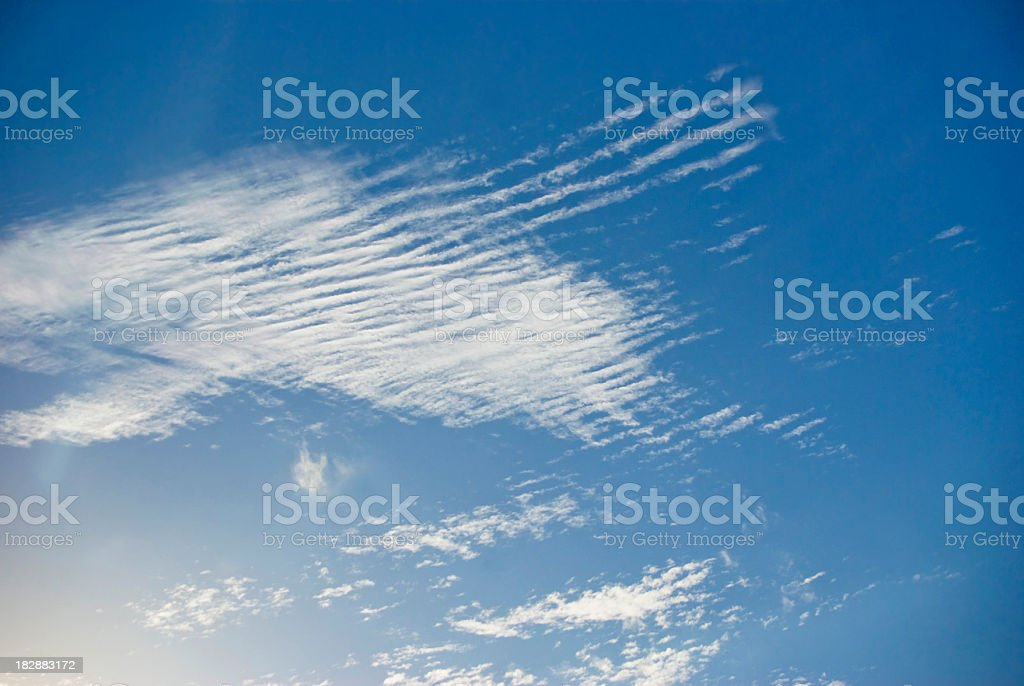 lofty wispy cirrus clouds stock photo