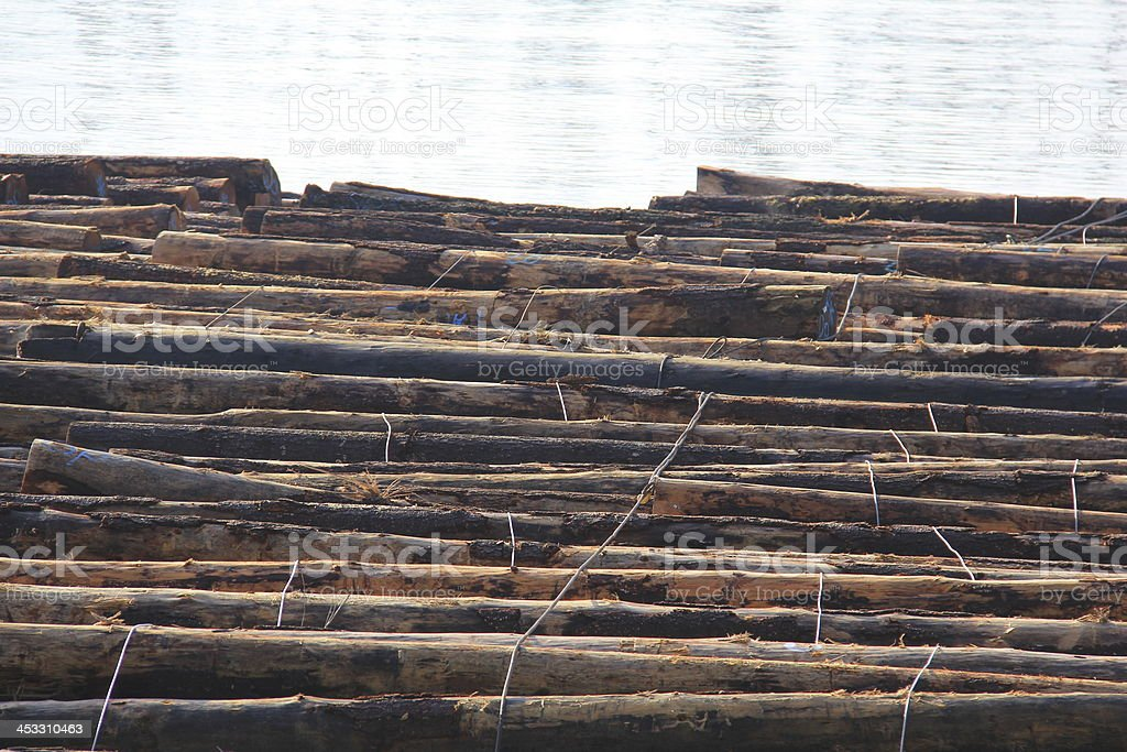 Log Boom stock photo