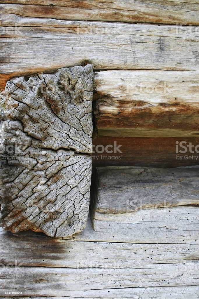 Log building detail royalty-free stock photo