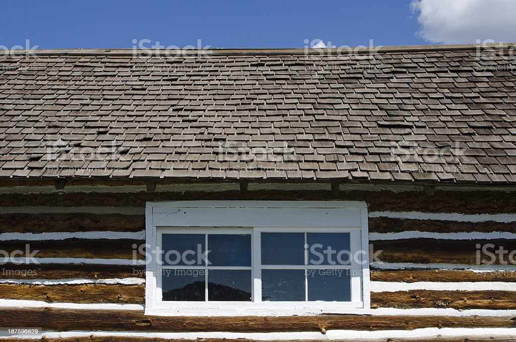 Log Cabin at Hornbek Ranch stock photo