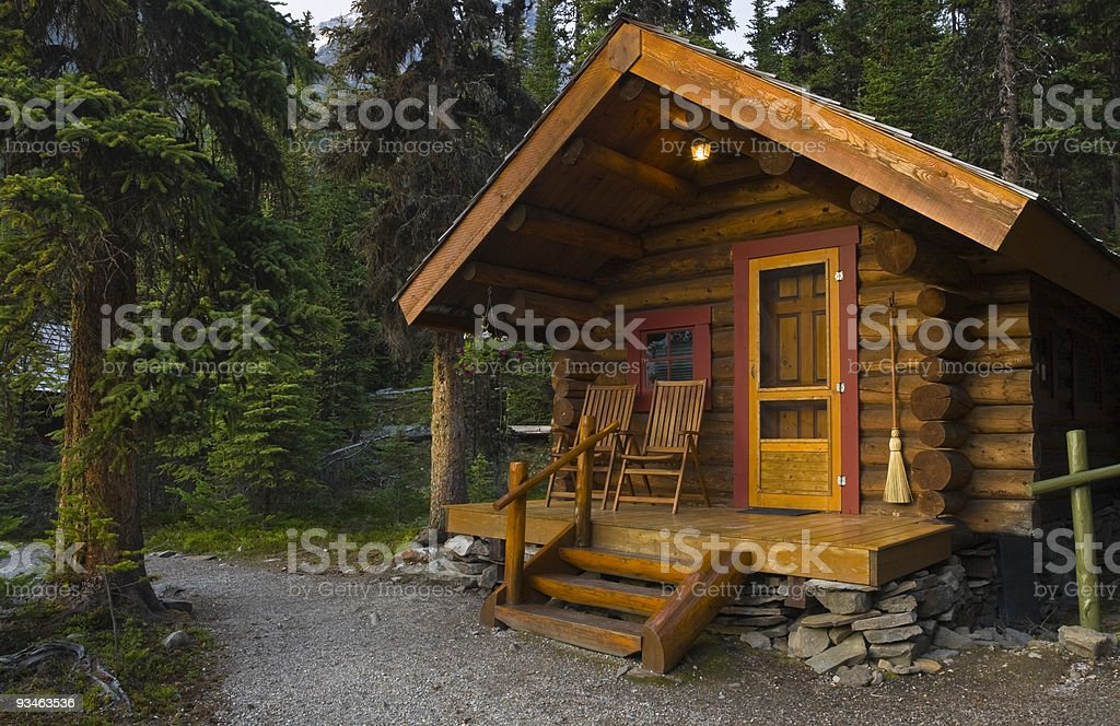 Log Cabin In The Forest royalty-free stock photo