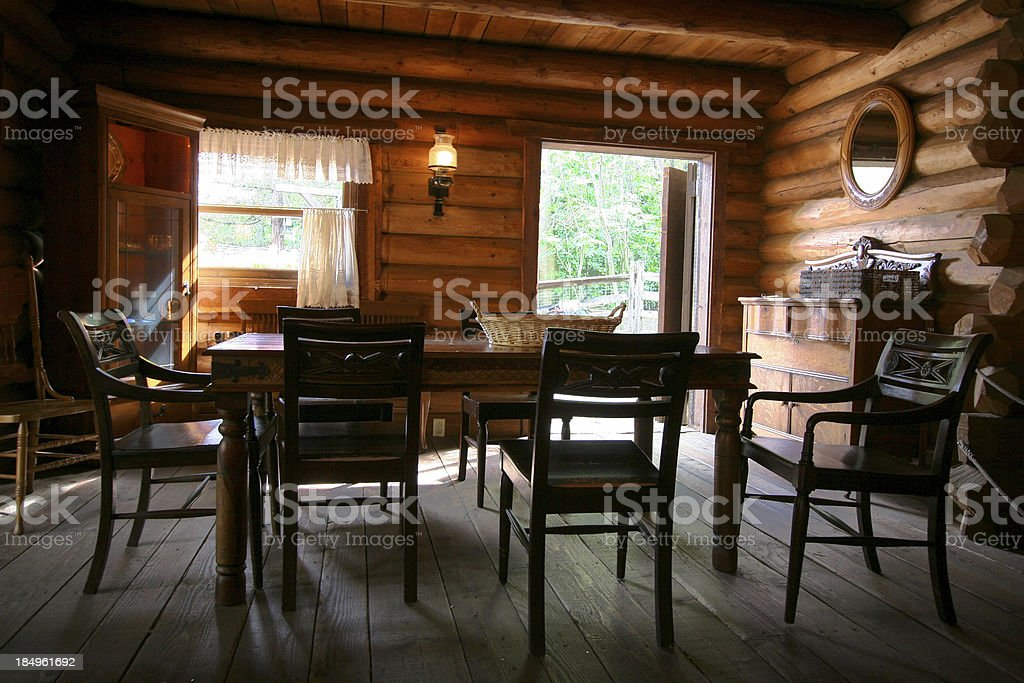 Log Cabin Living royalty-free stock photo