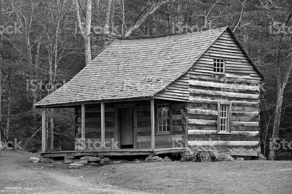 Log Cabin (desaturated) royalty-free stock photo