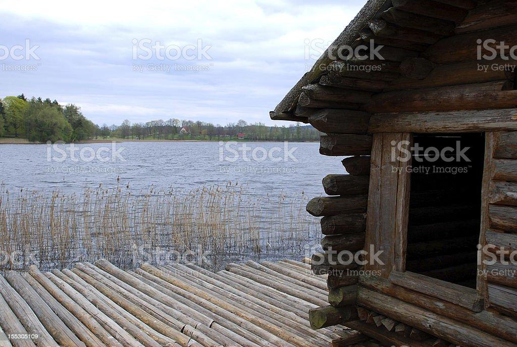Log cabin royalty-free stock photo