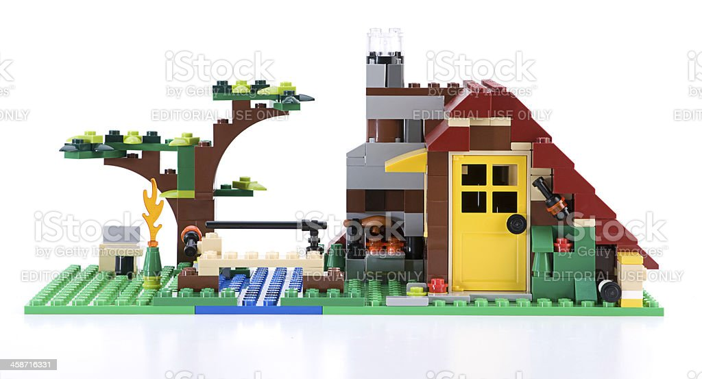 LEGO CREATOR Log Cabin royalty-free stock photo