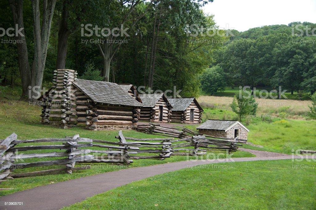 Log Cabin Village stock photo