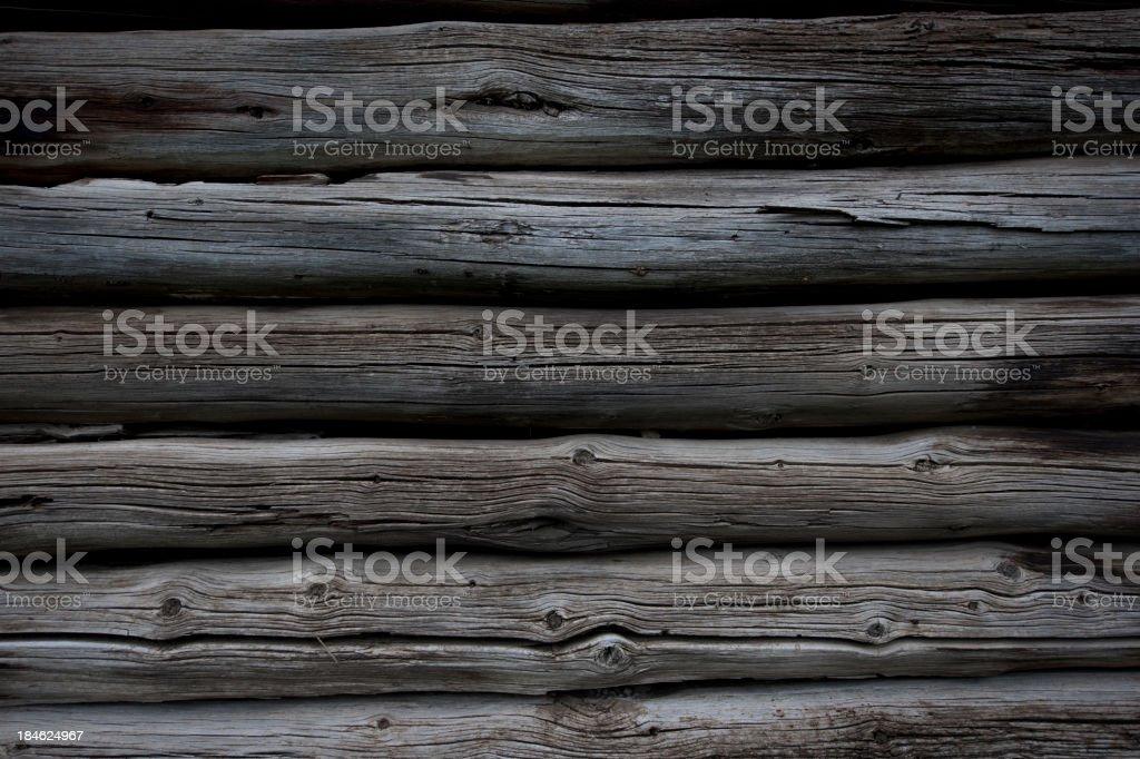 Log Cabin Wall stock photo
