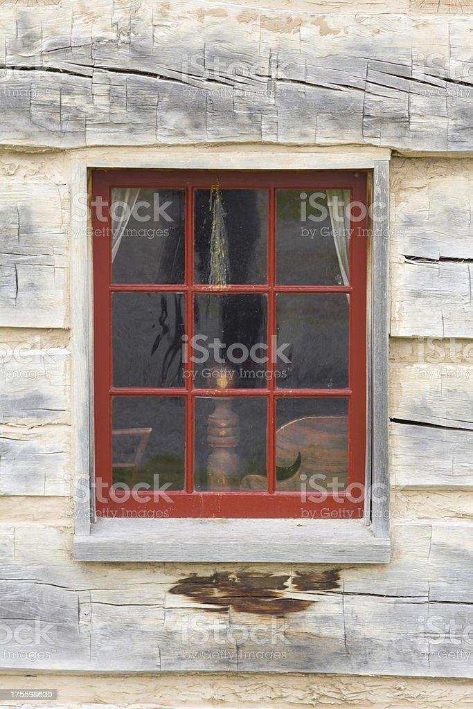 Log Cabin Window royalty-free stock photo