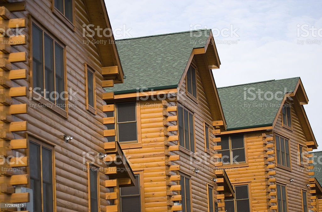 Log Cabins in the Smoky Mountains royalty-free stock photo