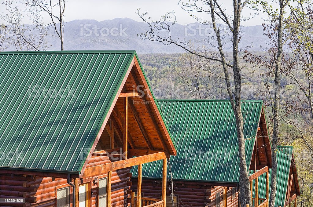 Log Cabins in the Smoky Mountains (XXL) royalty-free stock photo