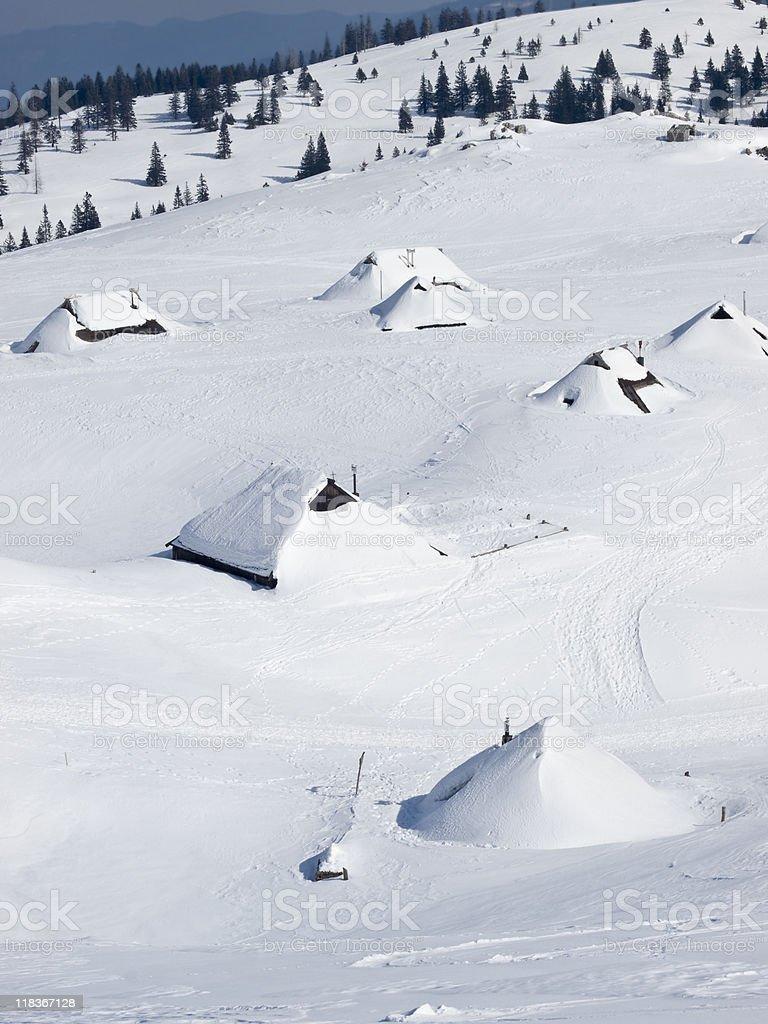 log cabins stock photo
