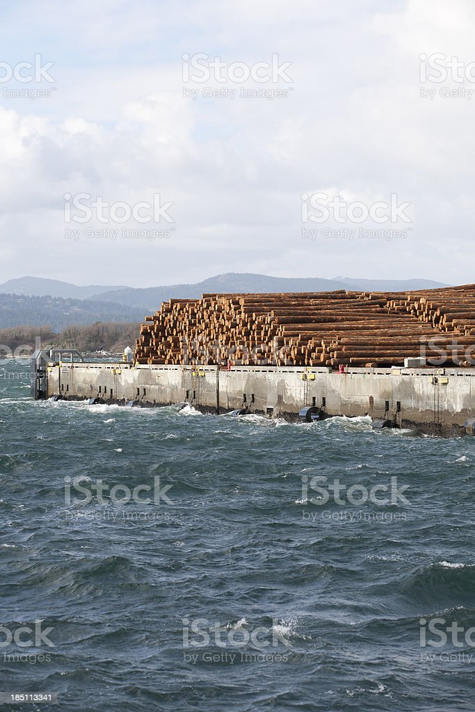 Log Exports royalty-free stock photo