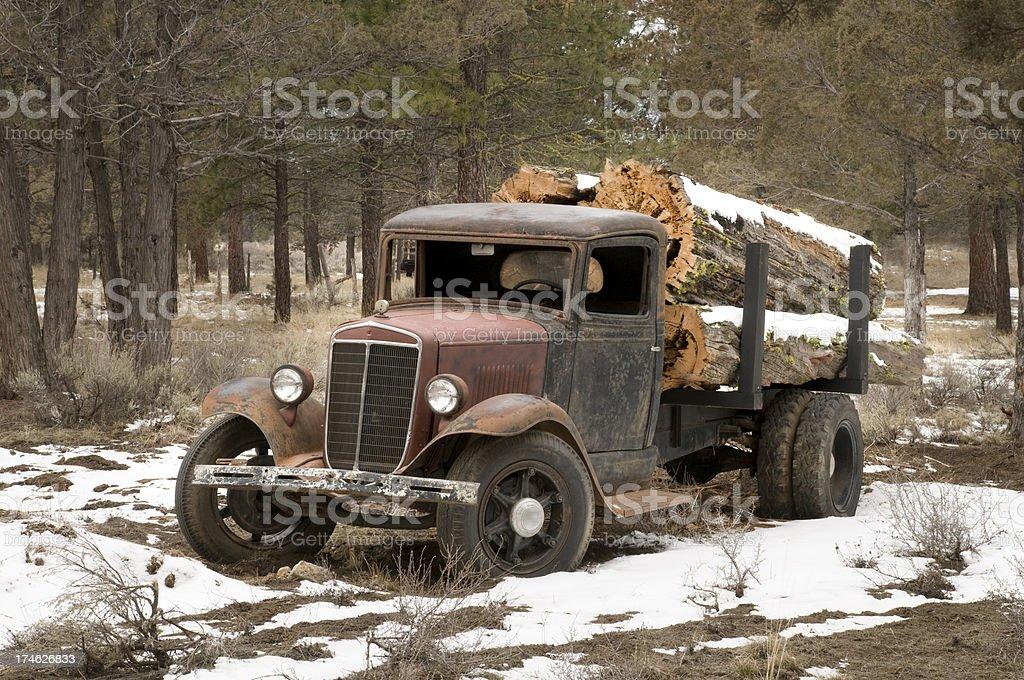 Log hauler stock photo