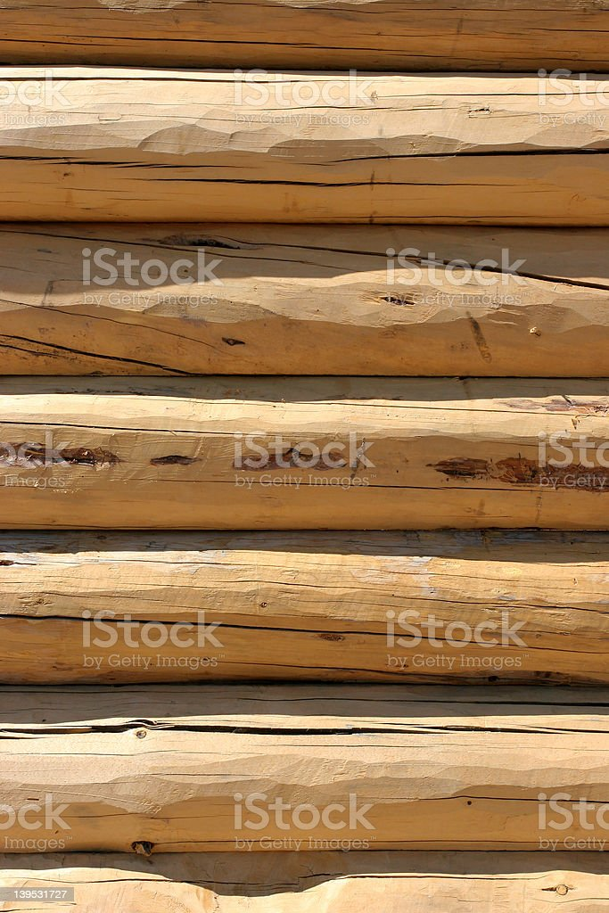 log home wall detail royalty-free stock photo