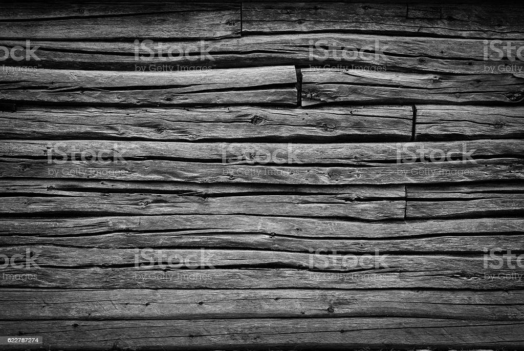 Log house stock photo