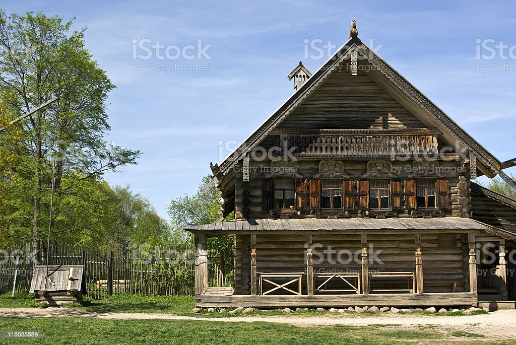 Log hut royalty-free stock photo