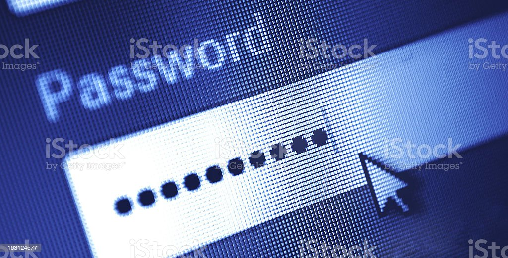 log in box stock photo