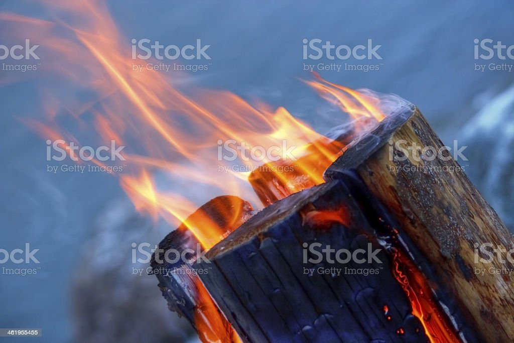 Log in fire royalty-free stock photo