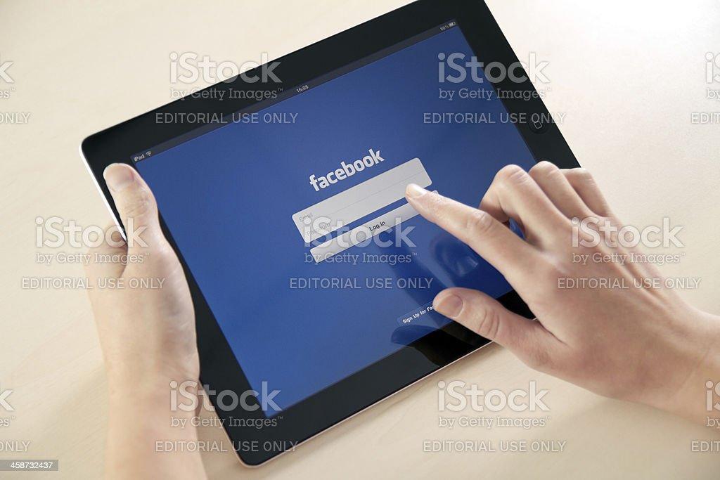Log In On Facebook App stock photo