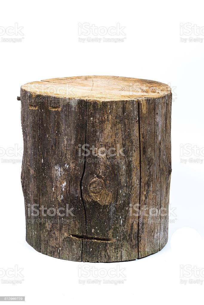 log isolated on a white background stock photo