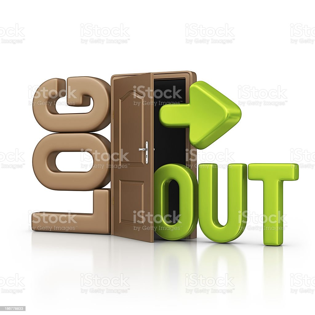 log out stock photo