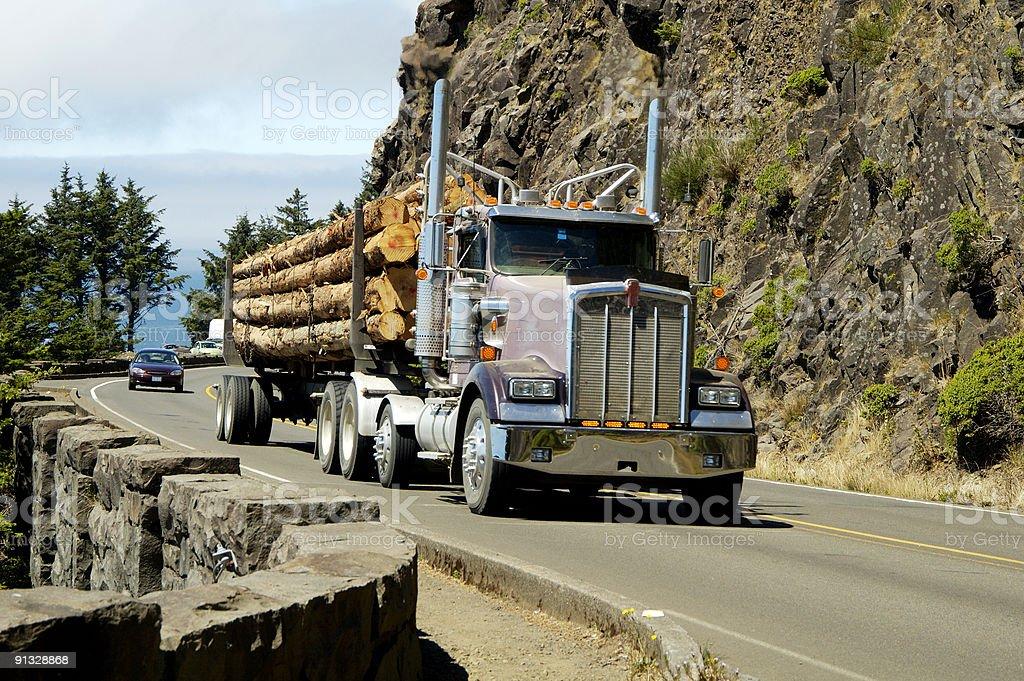 Log Truck 3 stock photo