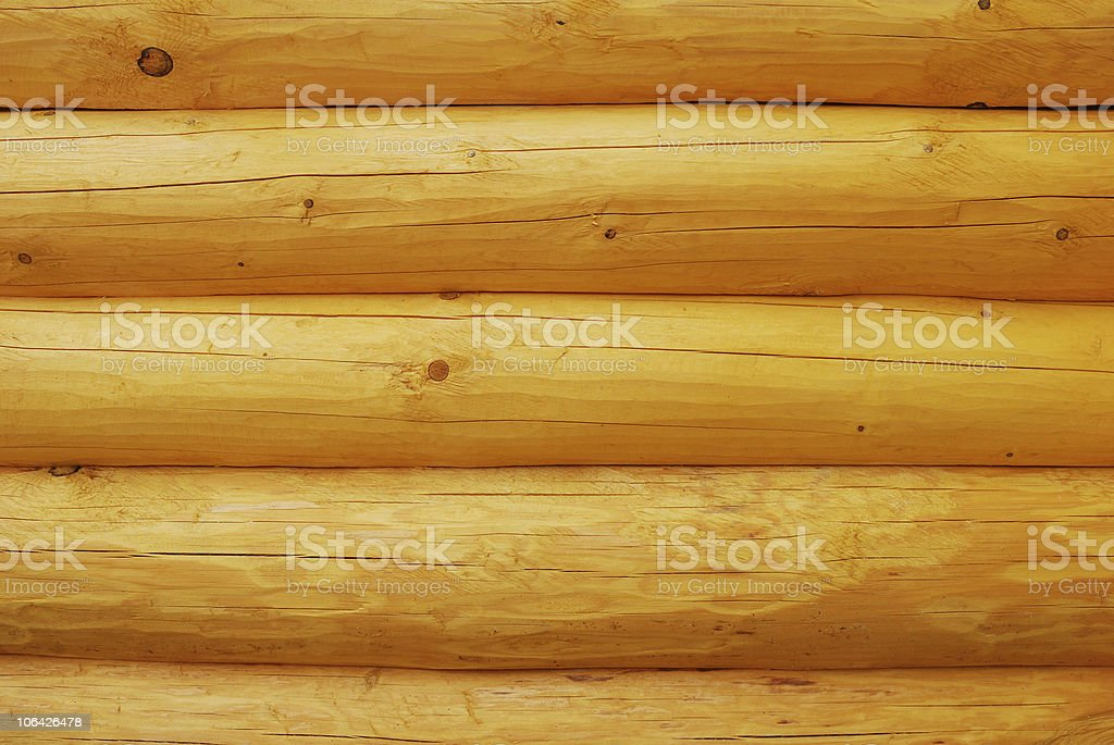 Log wall royalty-free stock photo