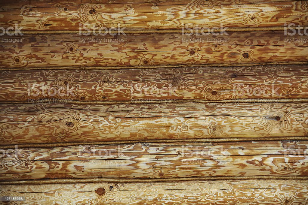 log wall surface, wooden background royalty-free stock photo