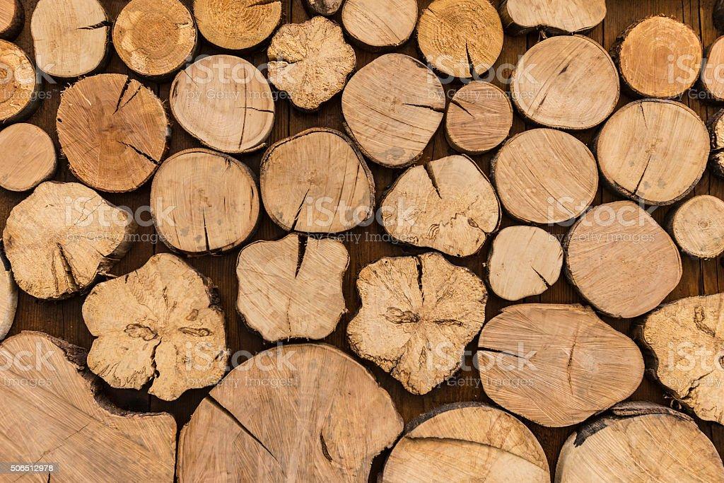 Log wood background stock photo