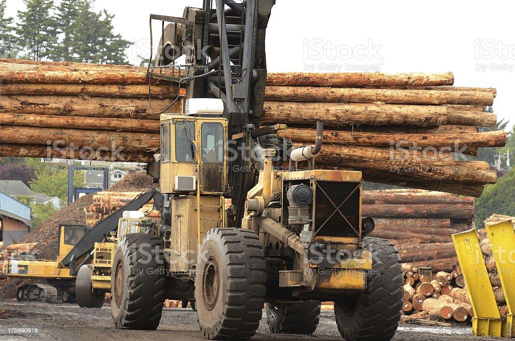 Log Yard royalty-free stock photo