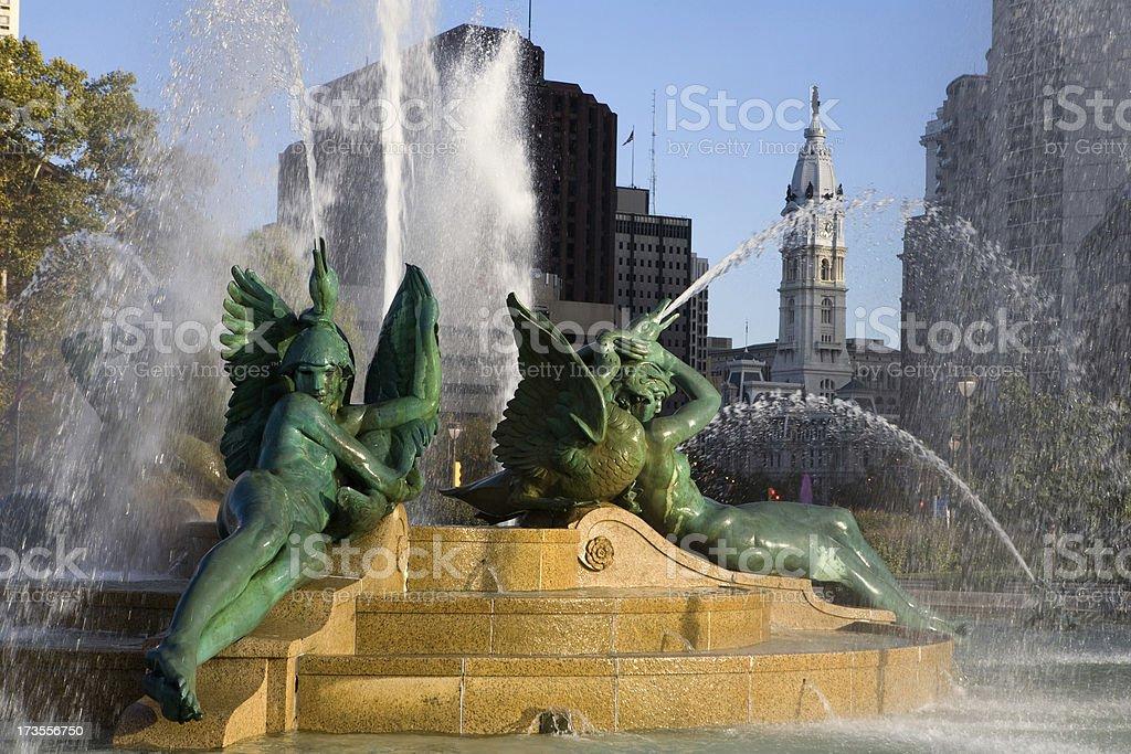 Logan Circle and City Hall royalty-free stock photo