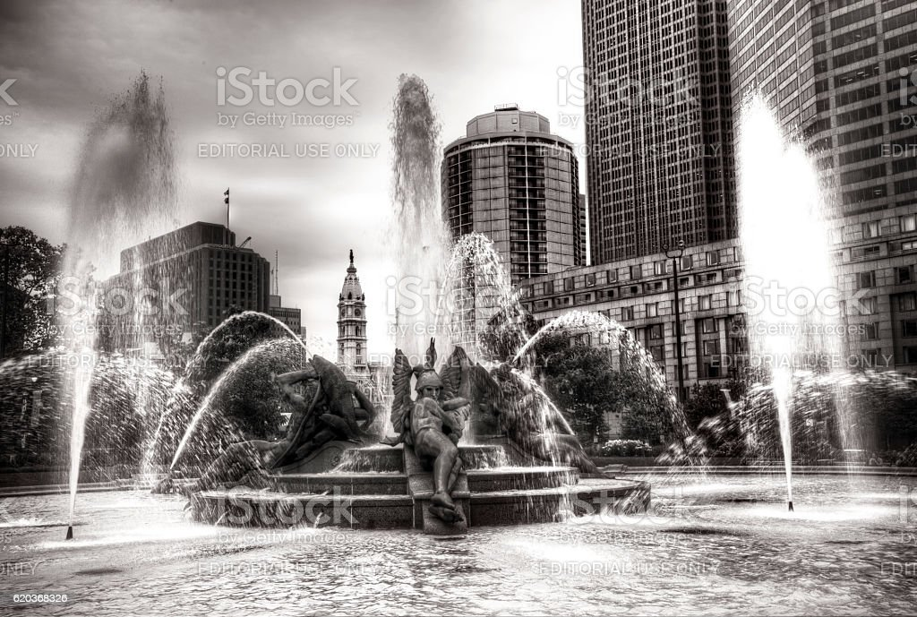 Logan Circle Fountain stock photo