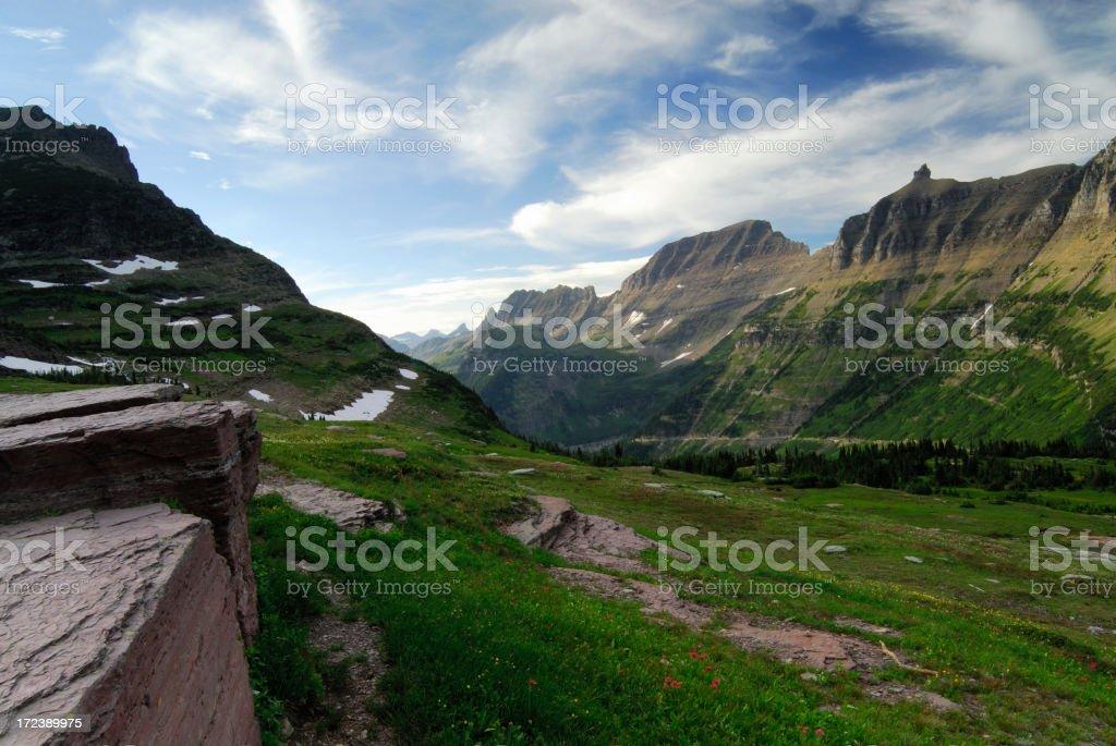 Logan Pass Landscape stock photo