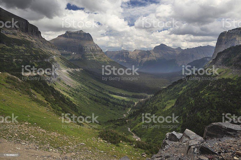 Logan Pass. stock photo