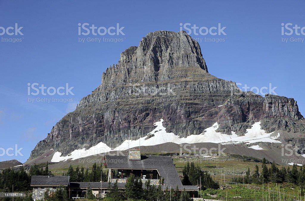 Logan Pass Visitor Center - Glacier National Park stock photo