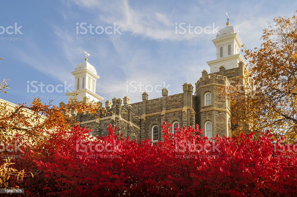 Logan Temple stock photo