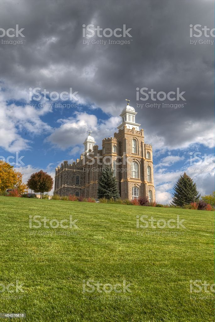 Logan Utah LDS Temple stock photo