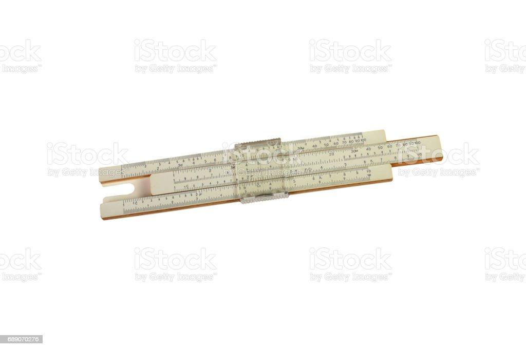 Logarithm ruler isolated stock photo