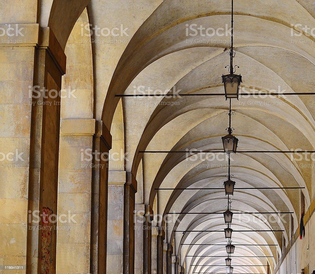 Loggia Of Vasari royalty-free stock photo