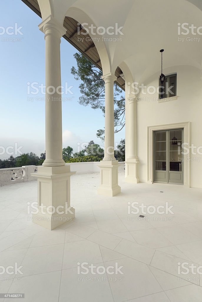 loggia view royalty-free stock photo