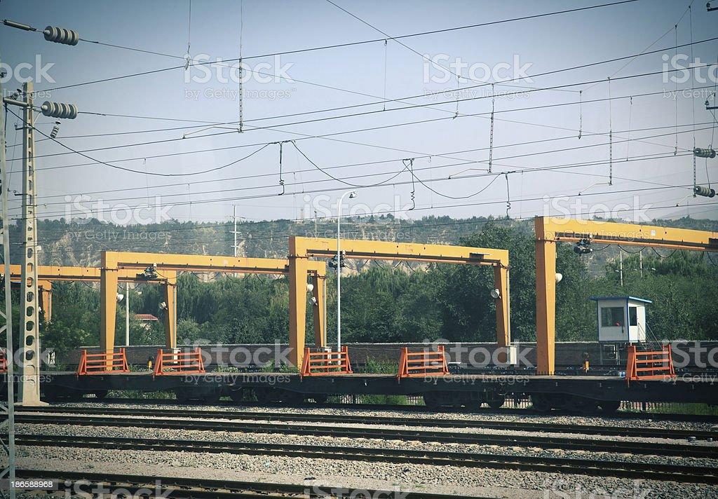 Logging Crane royalty-free stock photo