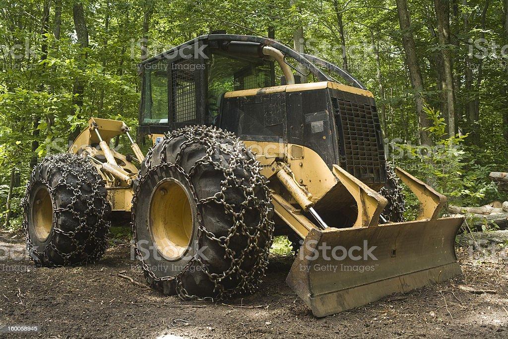 Logging machine - Skidder stock photo