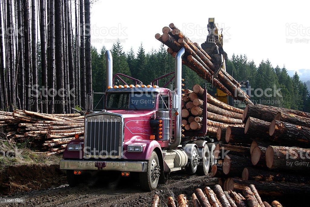 logging truck 2 stock photo