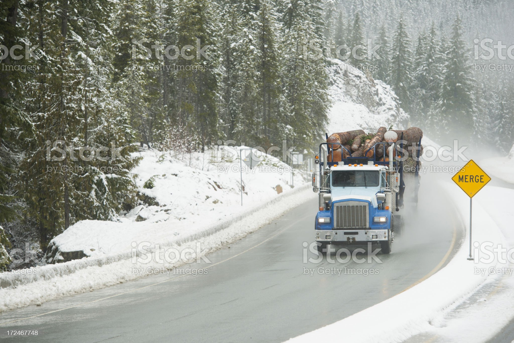 Logging Truck royalty-free stock photo