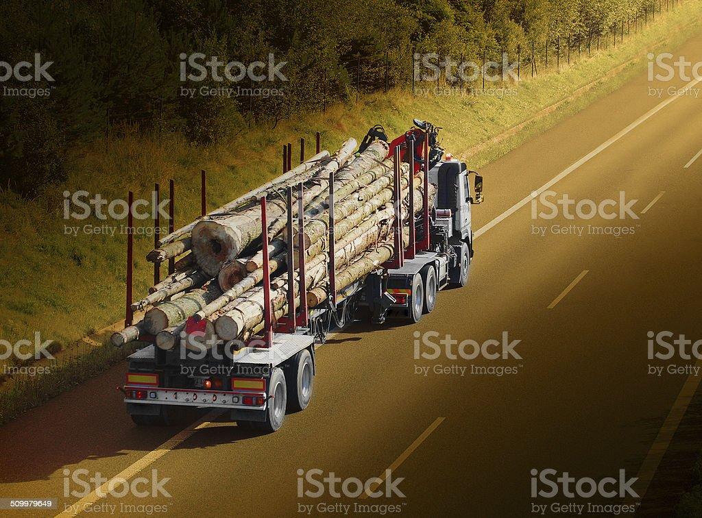 Logging truck. stock photo